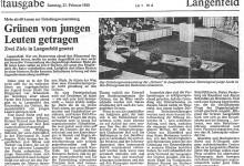 Artikel in der WZ zur Gründungsversammlung