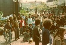 1. Demo in Langenfeld Kundgebung vor dem Rathaus