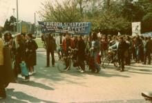 Start der 1. Demo in Langenfeld: für Abrüstung